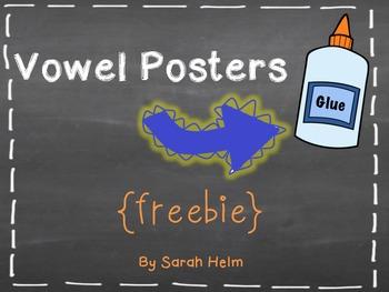 Vowel Posters {freebie}