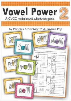 Vowel Power 2 - A CVCC medial sound substitution game