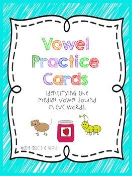 Vowel Practice Cards