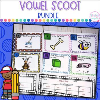 Vowel Scoot Bundle- Short and Long Vowels