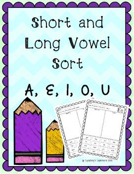 Vowel Word Sort - Cut and Paste