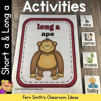 Vowel Sorting - Short a and Long a Center Games, Printable
