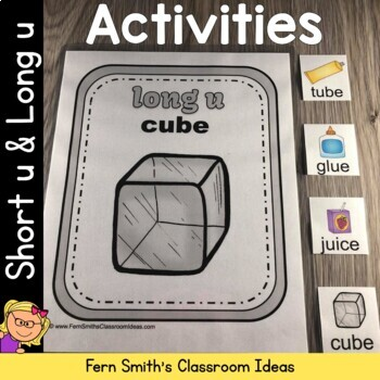 Vowel Sorting - Short u and Long u Center Games, Printable