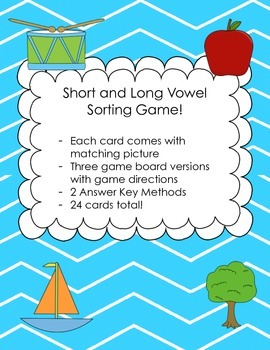 Vowel Sound Sorting Game! Short and Long vowels!