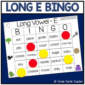 Vowel Sounds (Long E) Bingo - 25 Different Game Cards