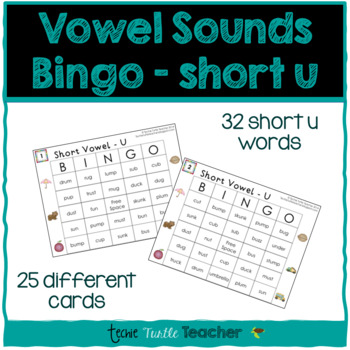 Vowel Sounds (Short U) Bingo - 25 Different Game Cards