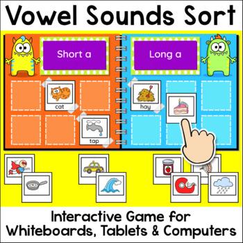 Vowel Sounds Sorting Game - Long Vowels & Short Vowels - M