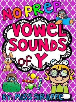 Vowel Sounds of Y Worksheets & Activities {NO PREP!}
