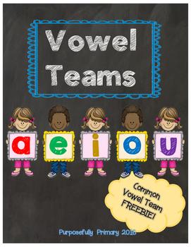 Vowel Team FREEBIE