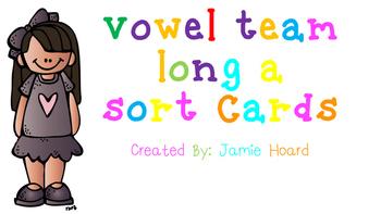 Vowel Team Long A Sort Cards
