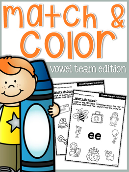 Vowel Team Match and Color