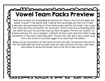 Vowel Team Pack Preview