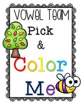 Vowel Team Pick & Color Me