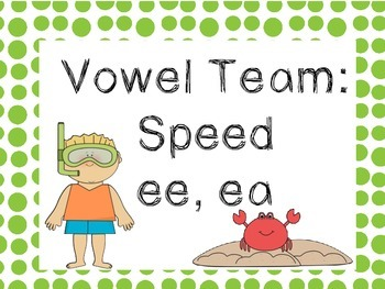 Vowel Team Speed- ee, ea