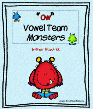 "Vowel Team ""ow"" Monsters I Have Who Has Game"