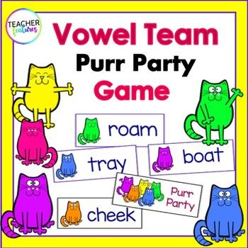 Vowel Teams: Purr Party Game