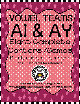 Vowel Teams AI and AY Literacy Centers