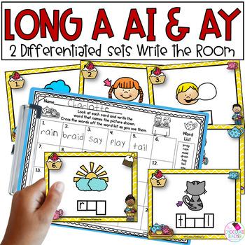 Vowel Teams AY & AI Write the Room