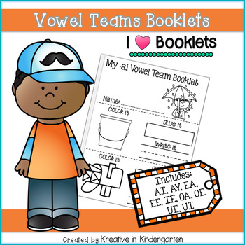 Vowel Teams Booklets by Kreative in Kindergarten