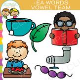 Vowel Teams Clip Art - EA Words