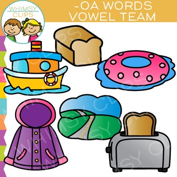 Vowel Teams Clip Art - OA Words