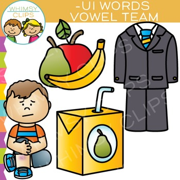 Vowel Teams Clip Art - UI Words