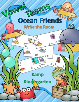 Vowel Teams Ocean Friends Write the Room