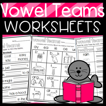 Vowel Teams Resources: Puzzles, Stories, Worksheets, Cut a