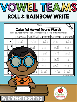 Vowel Teams Roll & Rainbow Write Bundle