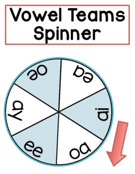 Vowel Teams Spinner