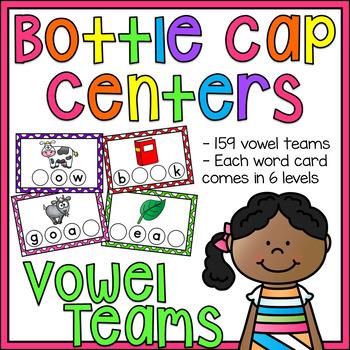 Vowel Teams (Vowel Pairs) Bottle Cap Centers