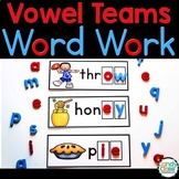 Vowel Team Word Work Cards for Phonics Centers for Long Vo