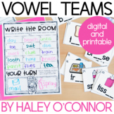 Vowel Teams Centers and Printables
