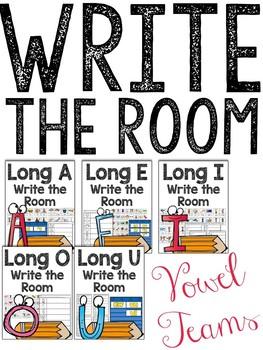 Vowel Teams: Write the Room (Long Vowel Sounds)
