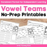 Vowel Teams (phonics) Easy Printables
