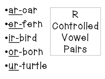 Vowel combinations printable posters