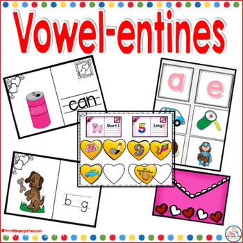 Vowel-entines Centers for Kindergarten