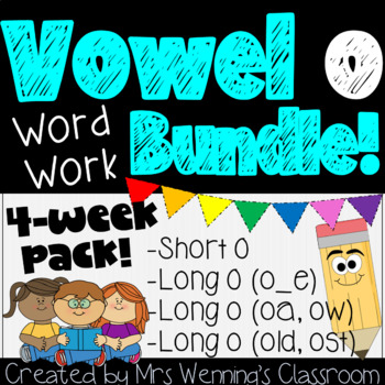 Vowel o Pack - 3 Weeks of Lesson Plans, Activities, and Wo