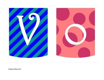 Vowels Banner or Poster