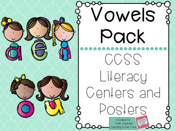 Vowels Bundle Pack: Posters and Literacy Centers (Common C
