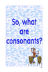Vowels, Consonants, and Syllables