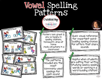 Vowels Spelling Pattern Posters
