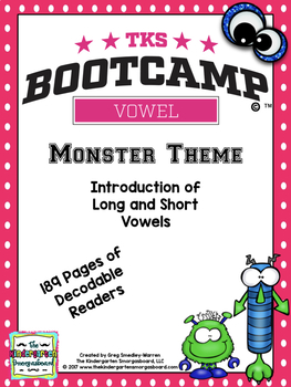 Vowels!  Vowel Bootcamp Monster Edition!  A Short And Long