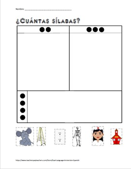 Vowels-vocales Spanish Kindergarten vocabulary packet for