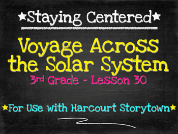 Voyage Across the Solar System  3rd Grade Harcourt Storyto