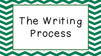 Writing Process Clipchart Posters FREEBIE