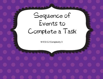 W 6.2 Comp. 3 Sequence of Events  Extended Standards AAA