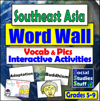 Southeast Asia Word Wall and Game/Activity Ideas (28 words)