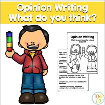 Opinion Writing Prompt Favorite School Subject