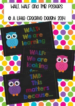 WALT, WALF and TMB posters